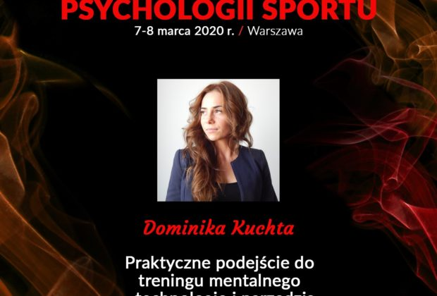 Image description: Zapraszam Was na XI Kongres Psychologii Sportu – Dominika Kuchta